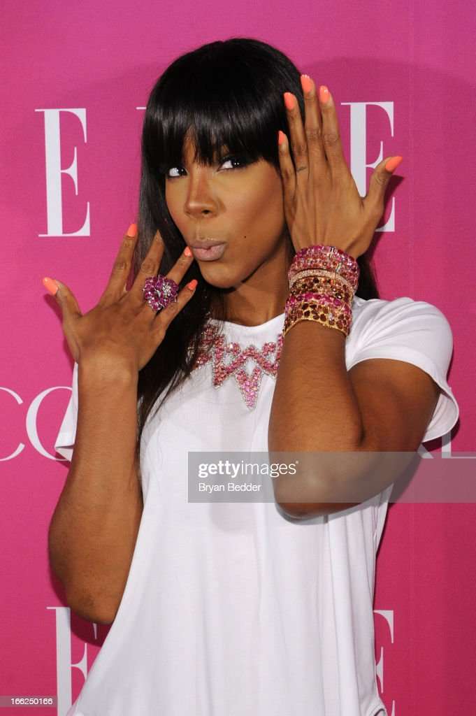 Singer <a gi-track='captionPersonalityLinkClicked' href=/galleries/search?phrase=Kelly+Rowland&family=editorial&specificpeople=201760 ng-click='$event.stopPropagation()'>Kelly Rowland</a> attends the 4th Annual ELLE Women in Music Celebration at The Edison Ballroom on April 10, 2013 in New York City.