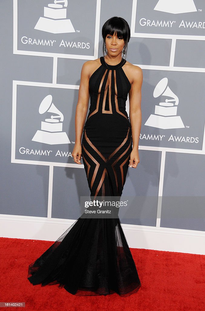 Singer Kelly Rowland attends the 55th Annual GRAMMY Awards at STAPLES Center on February 10, 2013 in Los Angeles, California.
