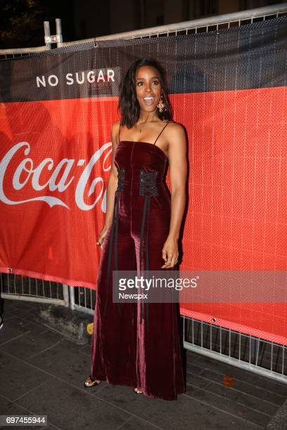 SYDNEY NSW Singer Kelly Rowland attends the CocaCola No Sugar launch at Centenary Square in Parramatta Sydney New South Wales