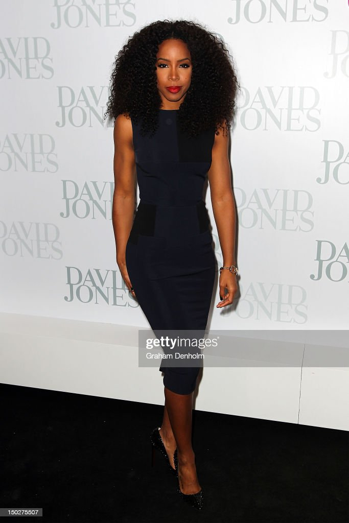Singer Kelly Rowland attends the David Jones S/S 2012/13 Season Launch at David Jones Castlereagh Street on August 14, 2012 in Sydney, Australia.