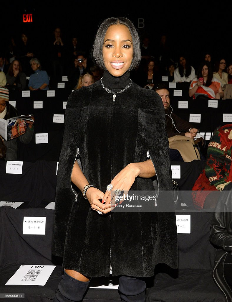 Singer Kelly Rowland attends the Kaufmanfranco fashion show during Mercedes-Benz Fashion Week Fall 2014 at The Theatre at Lincoln Center on February 12, 2014 in New York City.