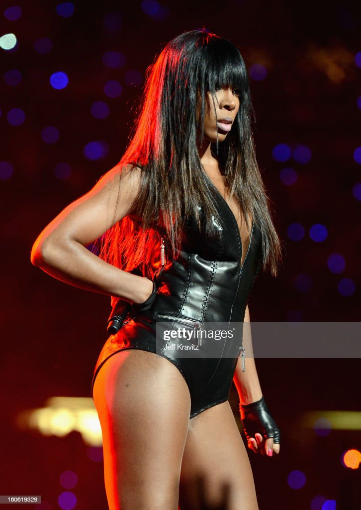 Singer Kelly Rowland of Destiny's Child performs during the Pepsi Super Bowl XLVII Halftime Show at Mercedes-Benz Superdome on February 3, 2013 in New Orleans, Louisiana.