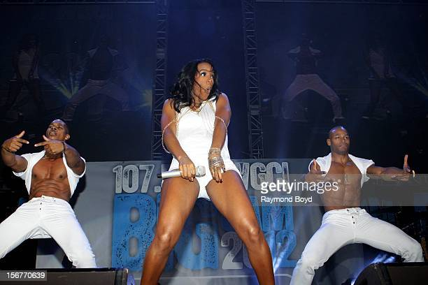 Singer Kelly Rowland performs during the WGCIFM 'Big Jam 2012' concert at the Allstate Arena in Rosemont Illinois in NOVEMBER 16 2012