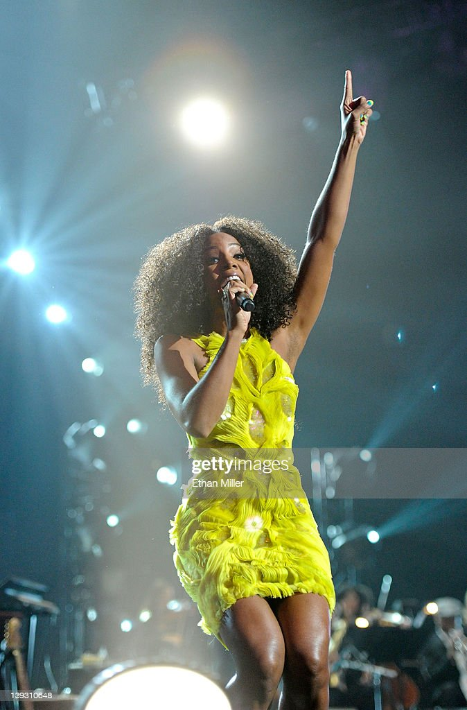 Singer Kelly Rowland performs onstage at the Keep Memory Alive foundation's 'Power of Love Gala' celebrating Muhammad Ali's 70th birthday at the MGM Grand Garden Arena February 18, 2012 in Las Vegas, Nevada. The event benefits the Cleveland Clinic Lou Ruvo Center for Brain Health and the Muhammad Ali Center.