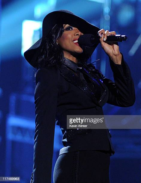 Singer Kelly Rowland performs onstage during the BET Awards '11 held at the Shrine Auditorium on June 26 2011 in Los Angeles California