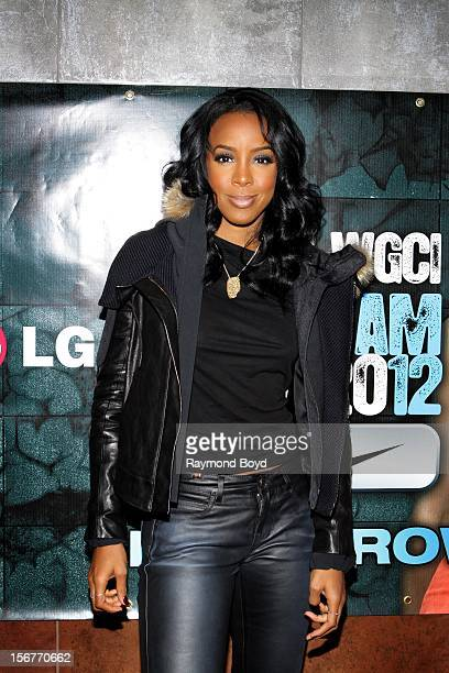 Singer Kelly Rowland poses for photos before performing during the WGCIFM 'Big Jam 2012' concert at the Allstate Arena in Rosemont Illinois in...