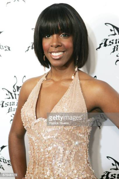 Singer Kelly Rowland poses in the Awards Room at the MTV Asia Awards Bangkok 2006 the fifth annual MTV Asia Awards at Siam Paragon on May 6 2006 in...