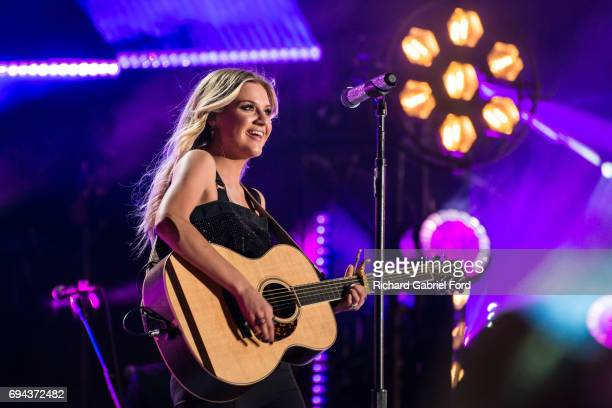 Singer Kelsea Ballerini performs at Nissan Stadium during day 2 of the 2017 CMA Music Festival on June 8 2017 in Nashville Tennessee
