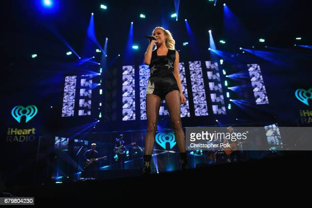 Singer Kelsea Ballerini performs onstage during the 2017 iHeartCountry Festival A Music Experience by ATT at The Frank Erwin Center on May 6 2017 in...