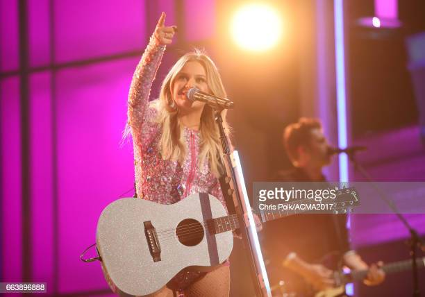 Singer Kelsea Ballerini performs onstage during the 52nd Academy of Country Music Awards at TMobile Arena on April 2 2017 in Las Vegas Nevada
