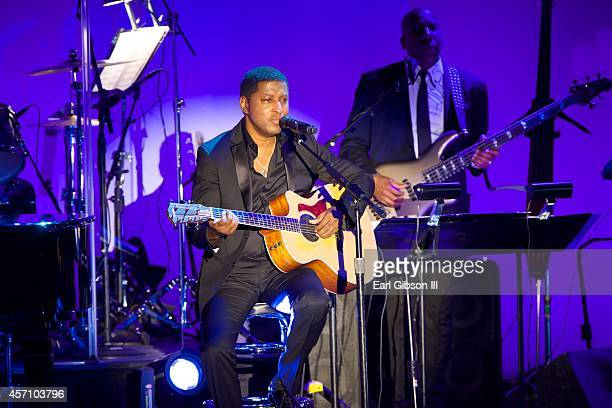 Singer Kenneth 'Babyface' Edmonds performs at the 2014 Carousel Of Hope Ball Presented By MercedezBenz at The Beverly Hilton Hotel on October 11 2014...