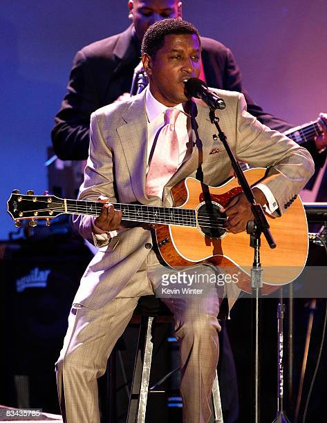Singer Kenneth 'Babyface' Edmonds performs during the 30th anniversary Carousel of Hope Ball to benefit the Barbara Davis center for childhood...