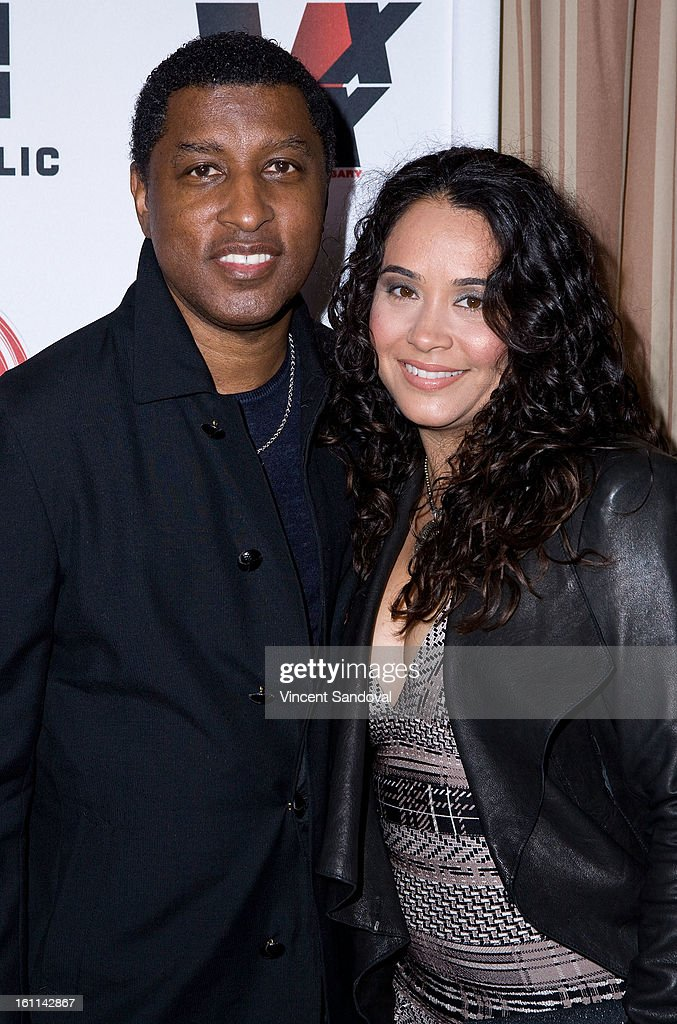Singer Kenneth Brian 'Babyface' Edmonds and guest attend VIBE Magazine's 20th anniversary celebration with inaugural impact awards - Arrivals at Sunset Tower on February 8, 2013 in West Hollywood, California.