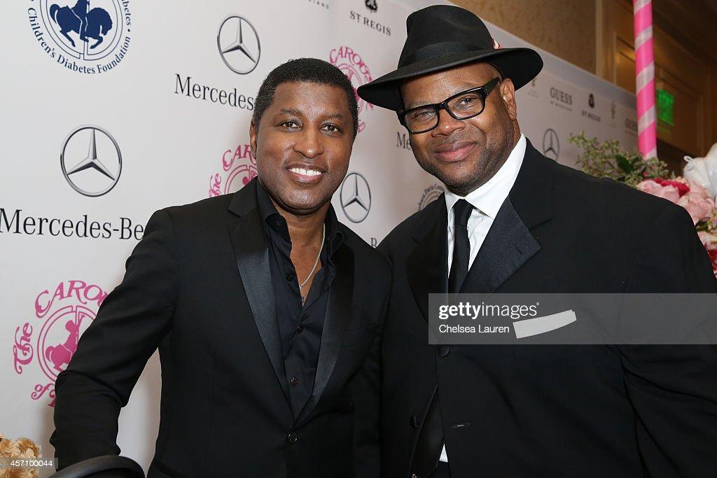 Singer Kenny 'Babyface' Edmonds and songwriter Jimmy Jam attend MercedesBenz presents the Carousel of Hope Ball benefitting Barbara Davis Center for...