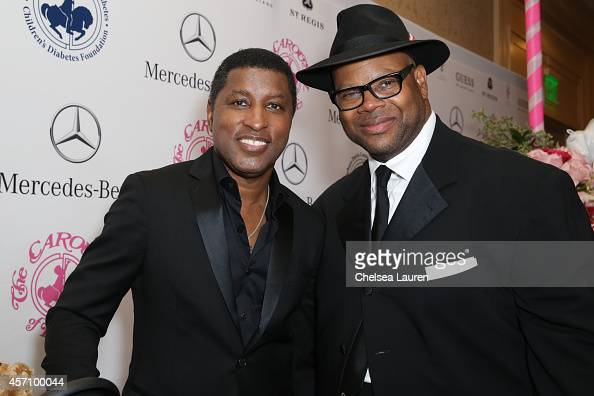 Singer Kenny 'Babyface' Edmonds and songwriter Jimmy Jam attend MercedesBenz presents the Carousel of Hope Ball benefitting Barbara Davis Center for...