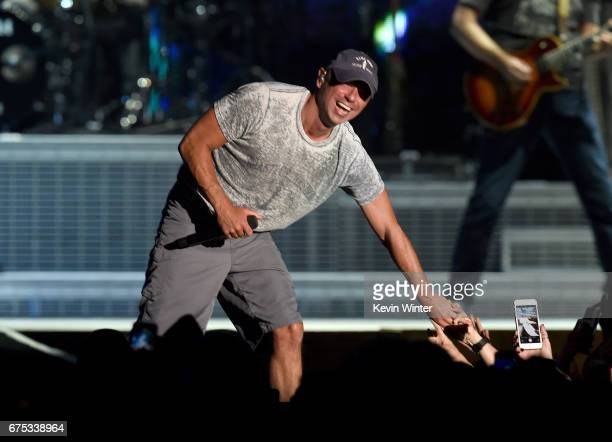 Singer Kenny Chesney performs on the Toyota Mane Stage during day 3 of 2017 Stagecoach California's Country Music Festival at the Empire Polo Club on...