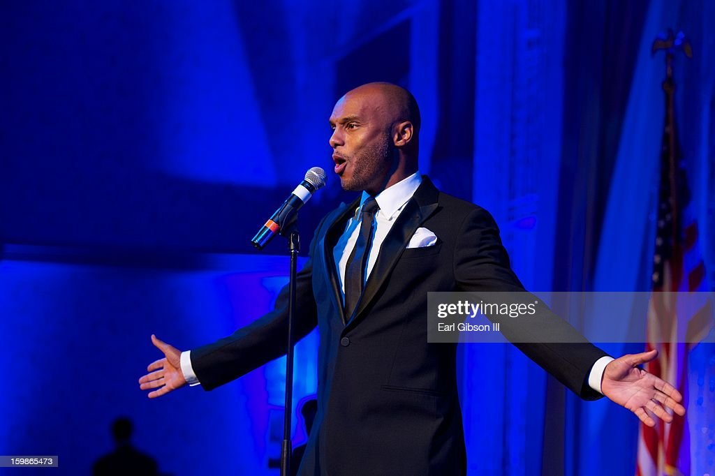 Singer Kenny Lattimore performs at the Congressional Black Caucus 2013 Inauguration Celebration at Capital Hilton on January 21, 2013 in Washington, United States.