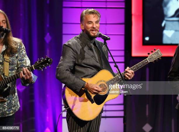 Singer Kenny Loggins performs onstage at the 16th Annual AARP The Magazine's Movies For Grownups Awards at the Beverly Wilshire Four Seasons Hotel on...