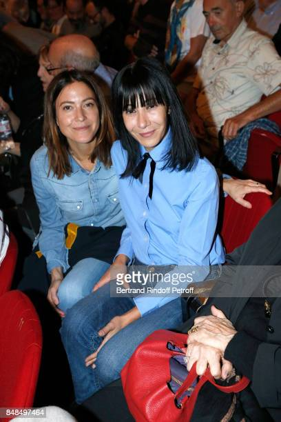 Singer Keren Ann and stylist Bouchra Jarrar attend Sylvie Vartan Performs at L'Olympia on September 16 2017 in Paris France