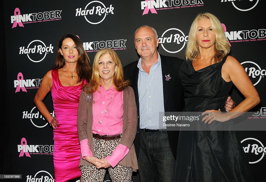Singer Keren Woodward Director of Marketing at The Breast Cancer Research Foundation Robbie Finke Franklin CEO of Hard Rock Cafe Hamish Dodds and...