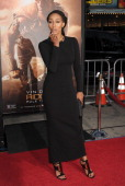 Singer Keri Hilson arrives at the Los Angeles premiere of 'Riddick' at the Westwood Village Theatre on August 28 2013 in Westwood California