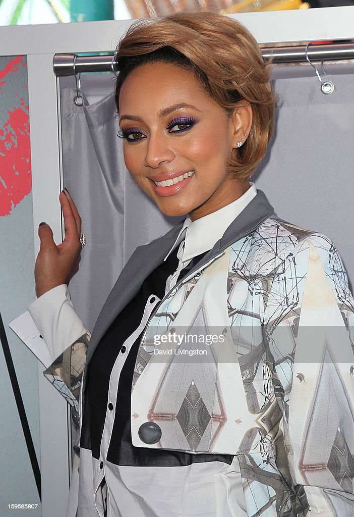 Singer Keri Hilson launches the Gillette 'Kiss & Tell' Experiment on the Santa Monica Pier on January 16, 2013 in Santa Monica, California.