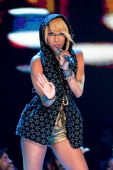 Singer Keri Hilson performs during BET's Rip the Runway 2011 at The Manhattan Center on February 26 2011 in New York City