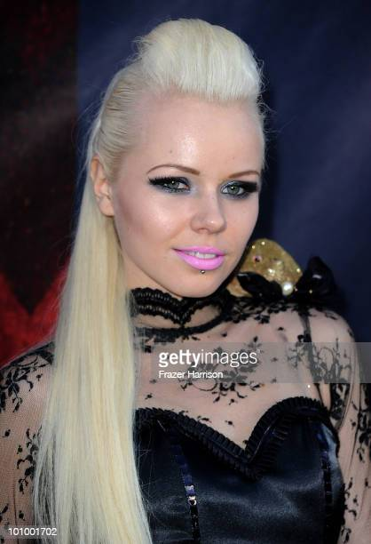Singer Kerli arrives at the opening night of FIDM exhibit for Walt Disney Studios 'Alice In Wonderland' at LA's Fashion Institute of Design and...