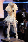 Singer Kerli onstage at SPIKE TV's 'Scream 2008' Awards held at the Greek Theatre on October 18 2008 in Los Angeles California