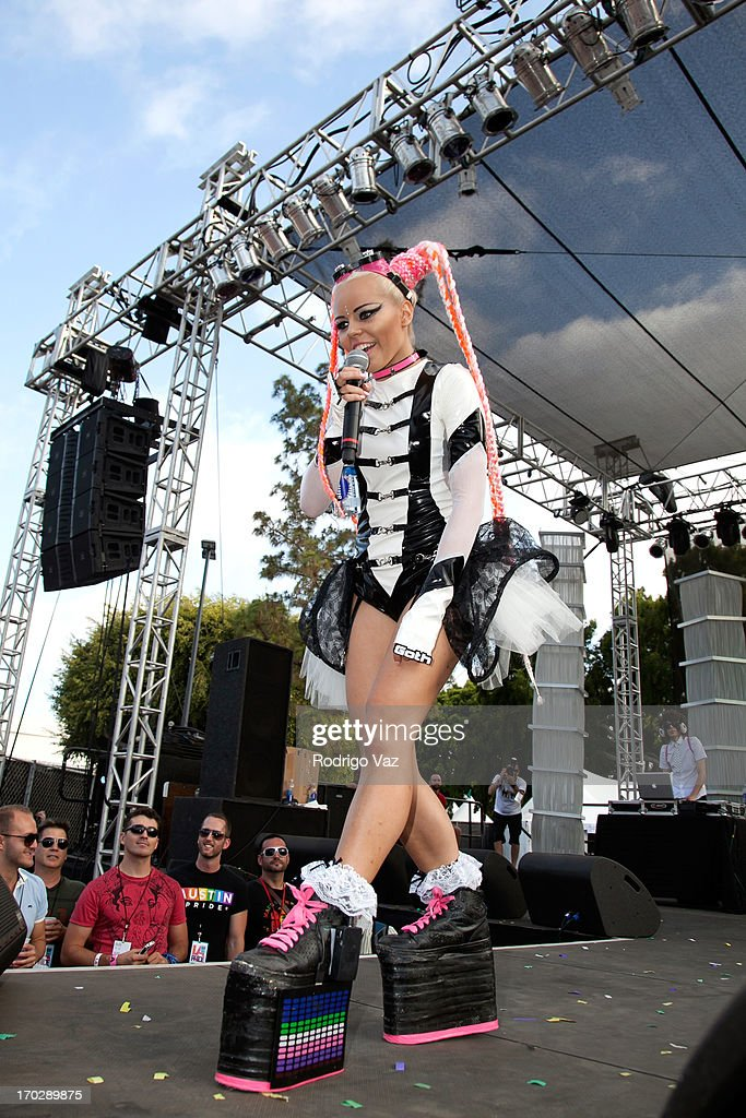Singer Kerli performs at 2013 LA Gay Pride Festival Day 3 on June 9 2013 in West Hollywood California