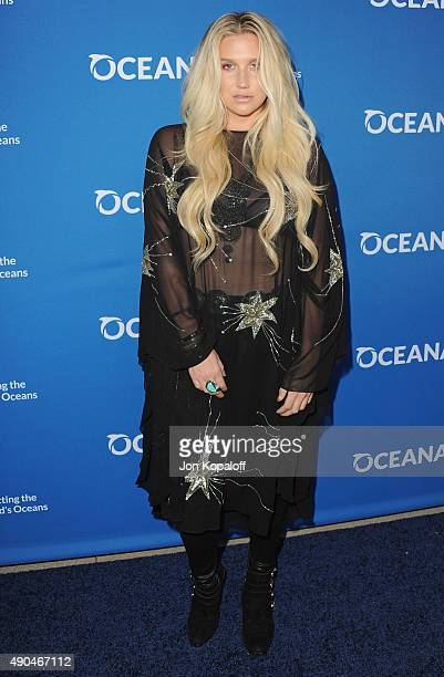 Singer Kesha arrives at A Concert For Our Oceans at Wallis Annenberg Center for the Performing Arts on September 28 2015 in Beverly Hills California