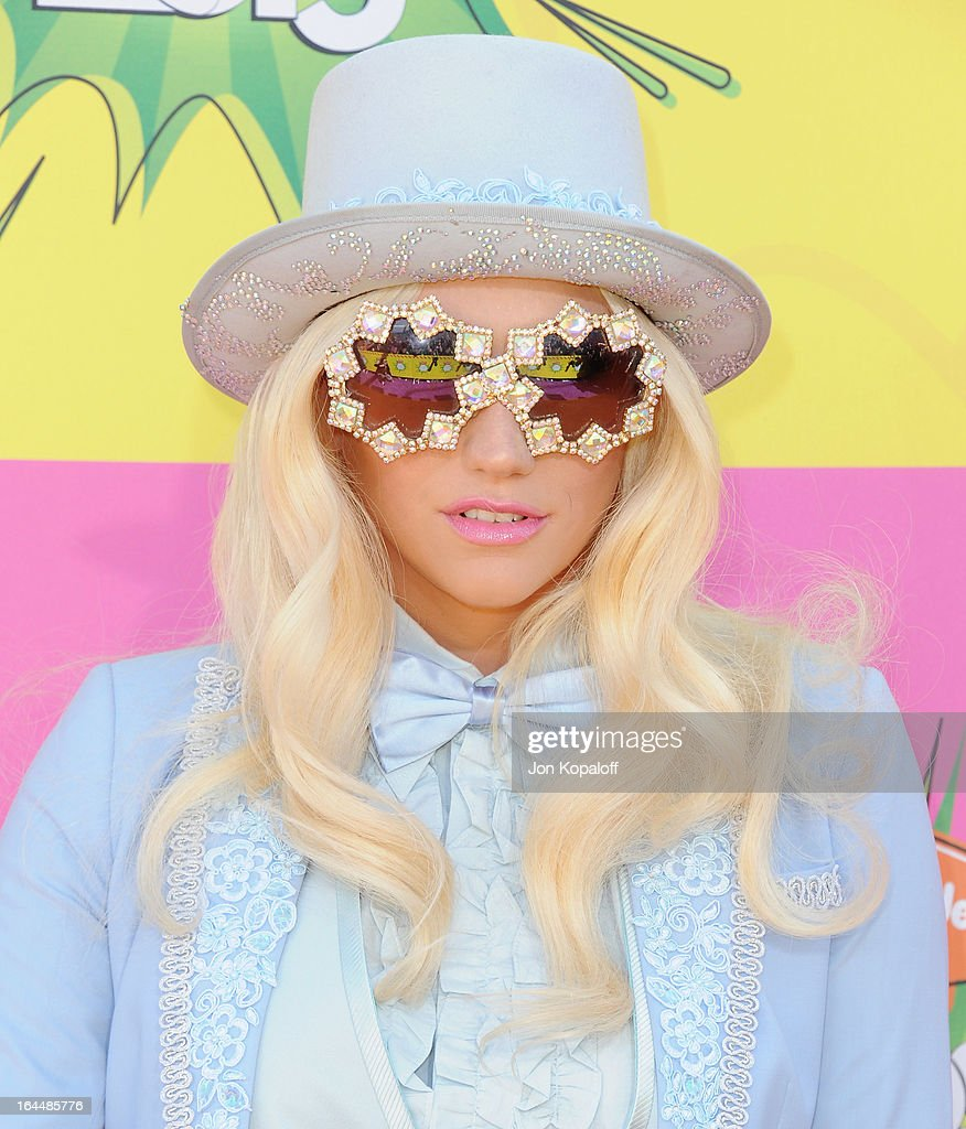 Singer Kesha arrives at Nickelodeon's 26th Annual Kids' Choice Awards at USC Galen Center on March 23, 2013 in Los Angeles, California.
