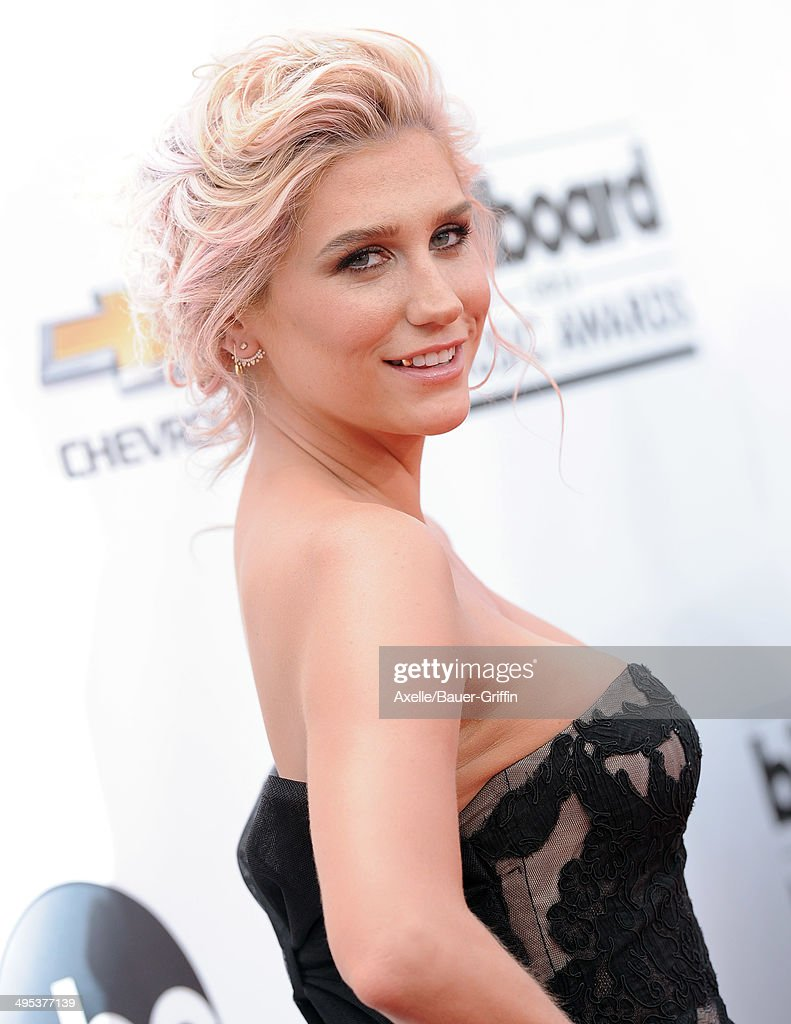 Singer Kesha arrives at the 2014 Billboard Music Awards at the MGM Grand Garden Arena on May 18, 2014 in Las Vegas, Nevada.