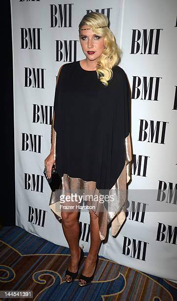 Singer Kesha arrives at the 60th annual BMI Pop Awards at the Beverly Wilshire Four Seasons Hotel on May 15 2012 in Beverly Hills California