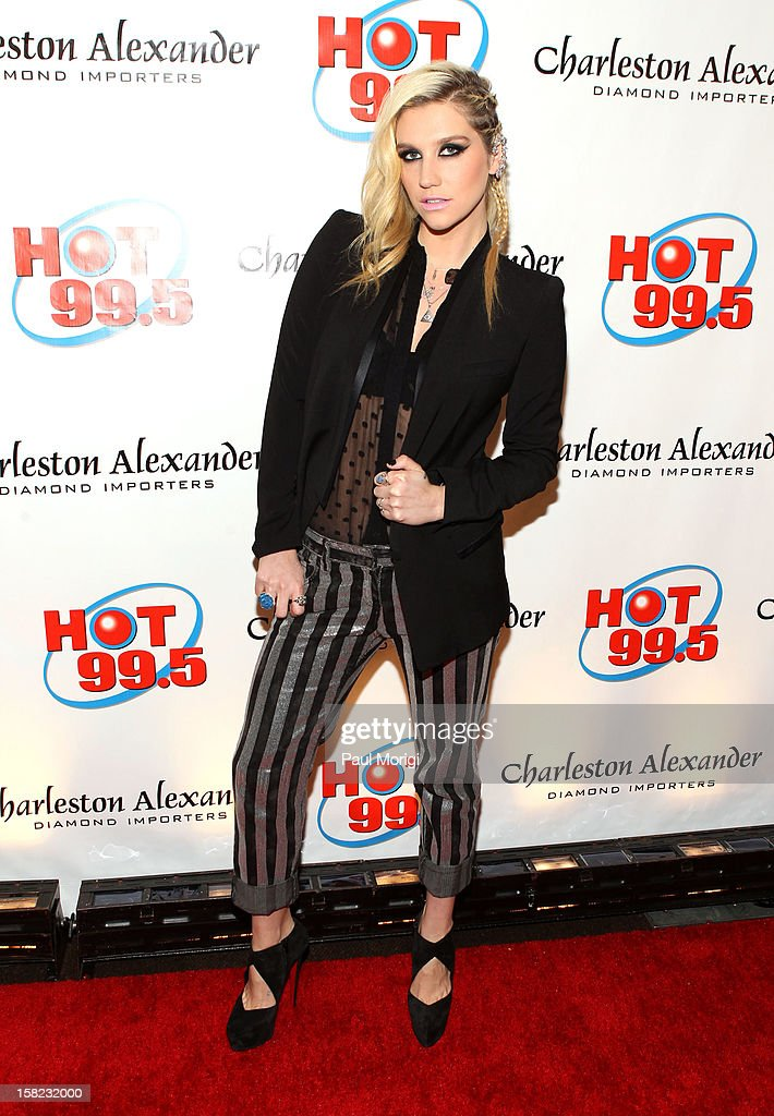 Singer Kesha attends Hot 99.5's Jingle Ball 2012, presented by Charleston Alexander Diamond Importers, at The Patriot Center on December 11, 2012 in Washington, D.C.
