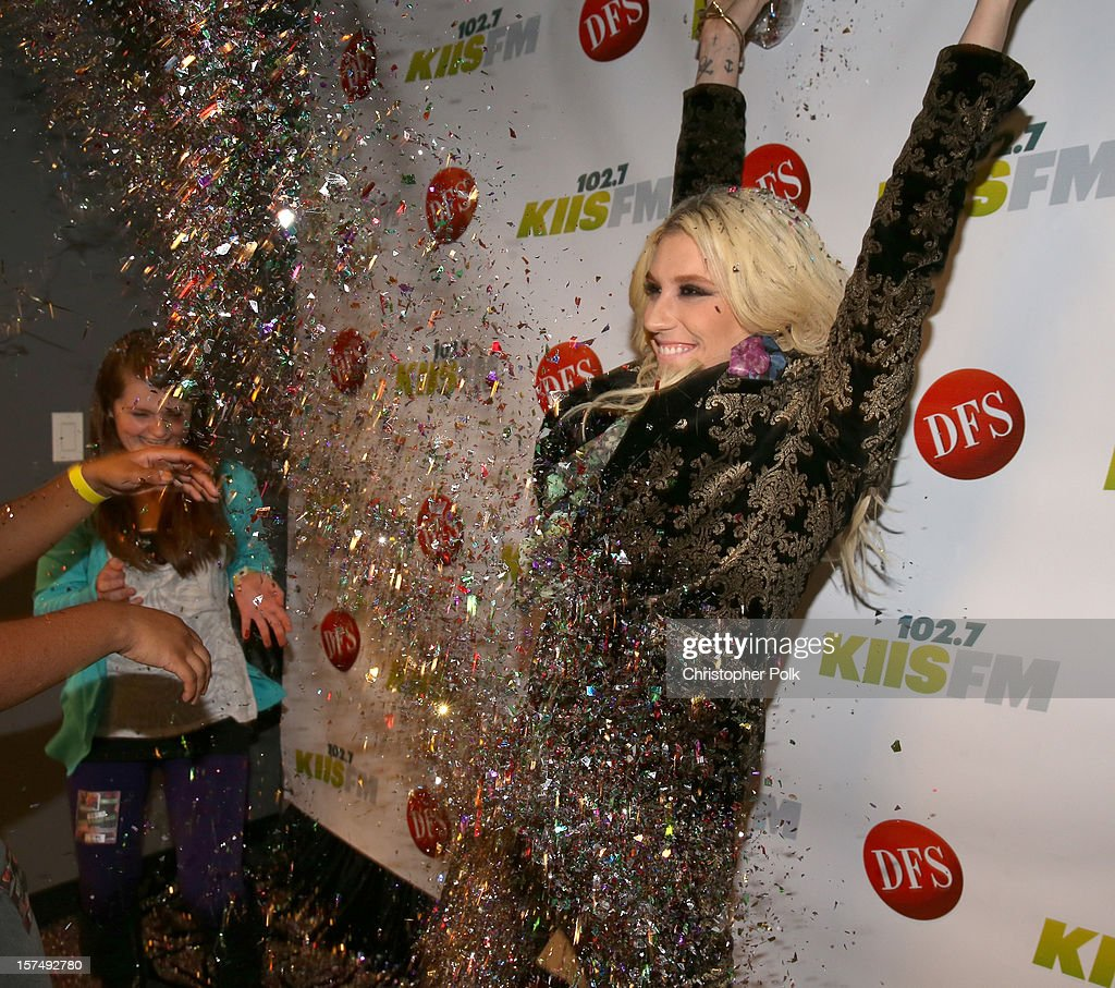 Singer Kesha attends KIIS FM's 2012 Jingle Ball at Nokia Theatre L.A. Live on December 3, 2012 in Los Angeles, California.