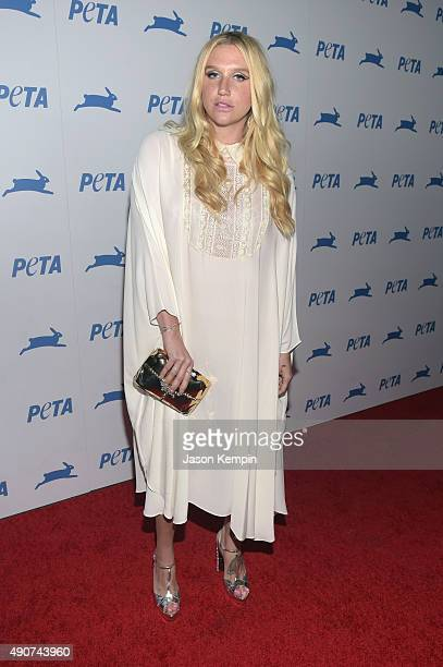 Singer Kesha attends PETA's 35th Anniversary Party at Hollywood Palladium on September 30 2015 in Los Angeles California