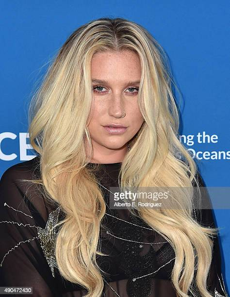 Singer Kesha attends the 'Concert For Our Oceans' hosted by Seth MacFarlane benefitting Oceana at The Wallis Annenberg Center for the Performing Arts...