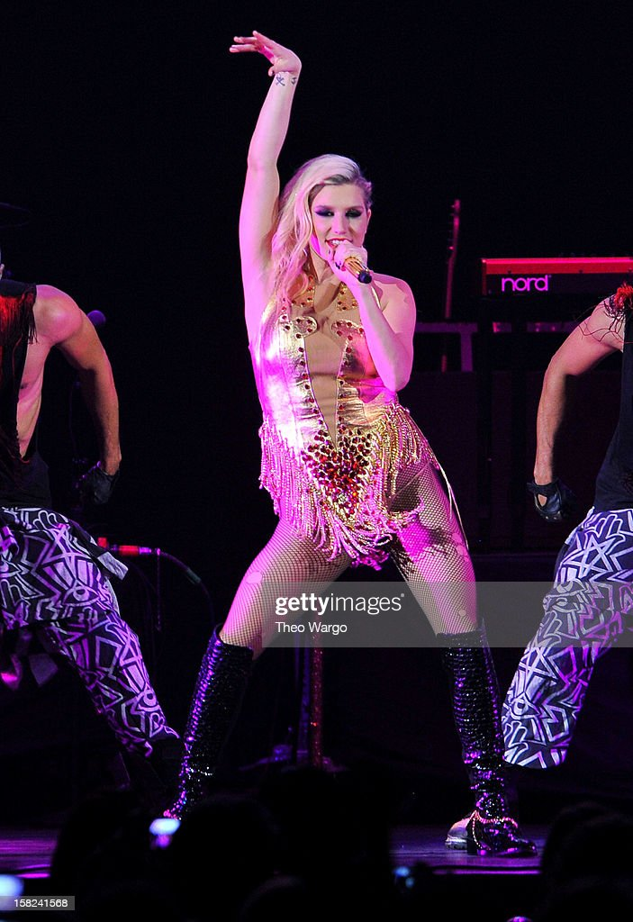 Singer Kesha performs onstage during Hot 99.5's Jingle Ball 2012, presented by Charleston Alexander Diamond Importers, at The Patriot Center on December 11, 2012 in Washington, D.C.