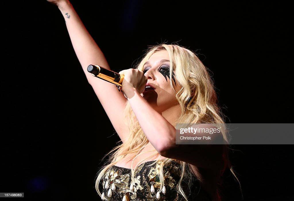 Singer Kesha performs onstage during KIIS FM's 2012 Jingle Ball at Nokia Theatre L.A. Live on December 3, 2012 in Los Angeles, California.