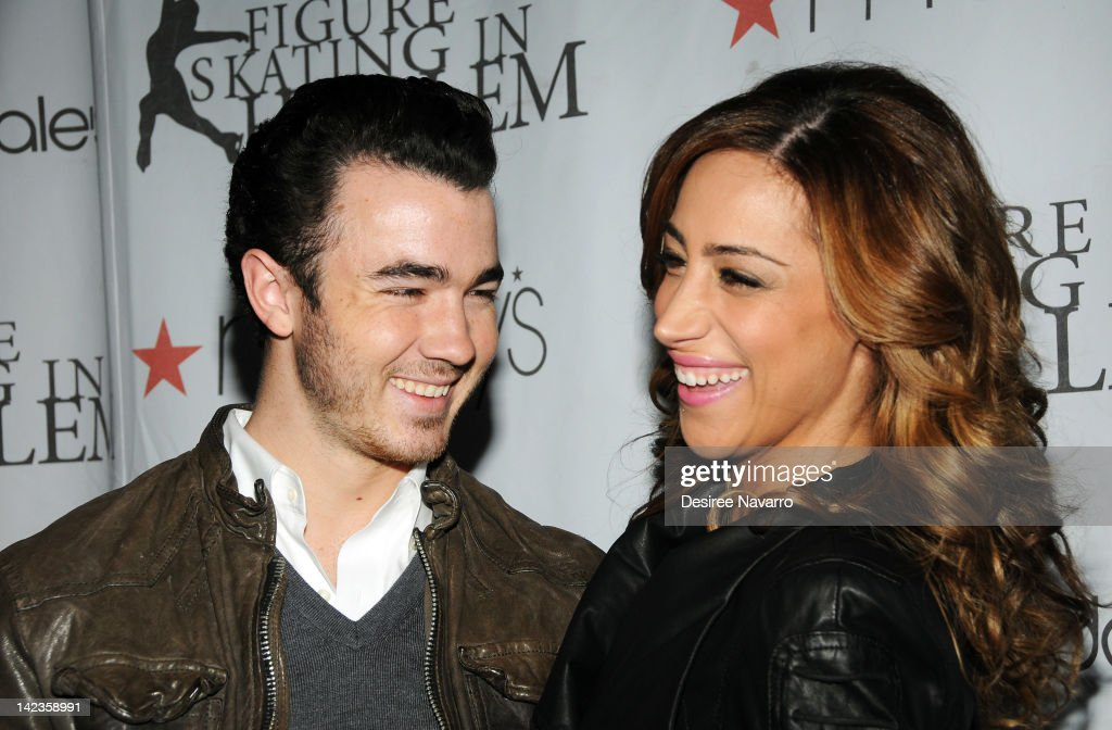 Singer Kevin Jonas and wife Dani Jonas attend the 2012 Skating with the Stars gala at theWollman Rink - Central Park on April 2, 2012 in New York City.