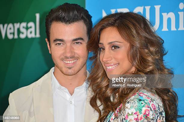 Singer Kevin Jonas and wife Danielle Jonas attend the NBC Universal 2012 Summer TCA press tour at The Beverly Hilton Hotel on July 25 2012 in Beverly...