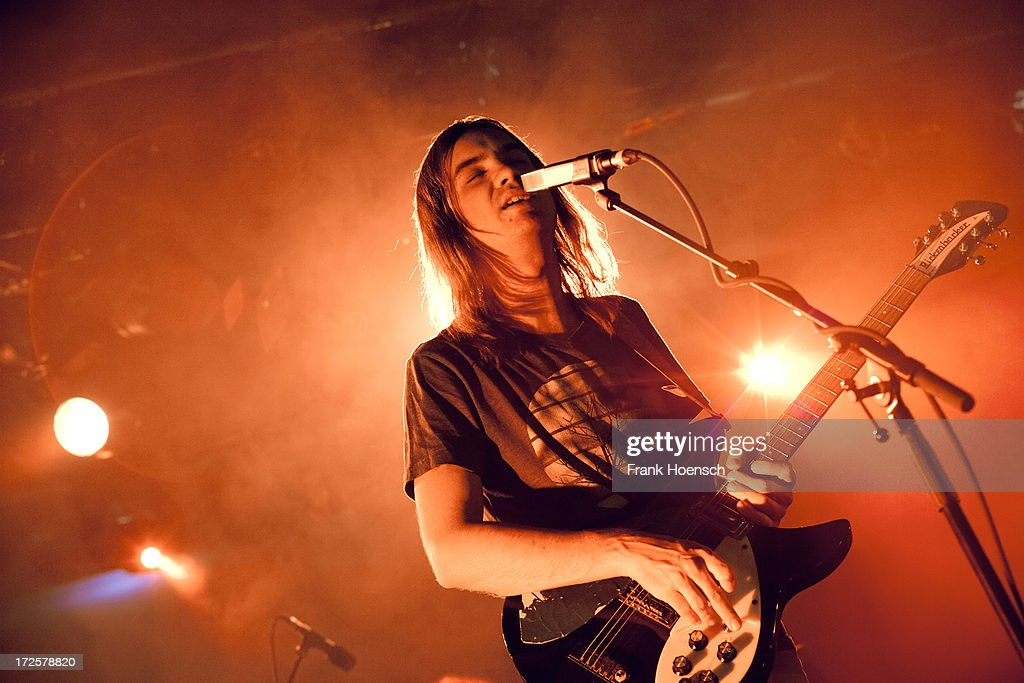 Singer Kevin Parker of Tame Impala performs live during a concert at the Astra on July 3 2013 in Berlin Germany