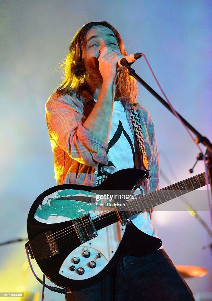 Singer Kevin Parker of Tame Impala performs onstage during FYF Festival at Los Angeles Sports Arena on August 27, 2016 in Los Angeles, California.