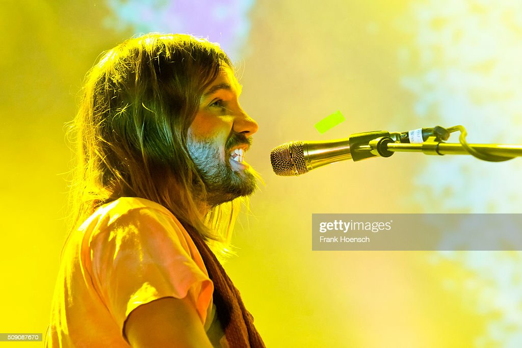 Singer Kevin Parker of the Australian band Tame Impala performs live during a concert at the Columbiahalle on February 8 2016 in Berlin Germany