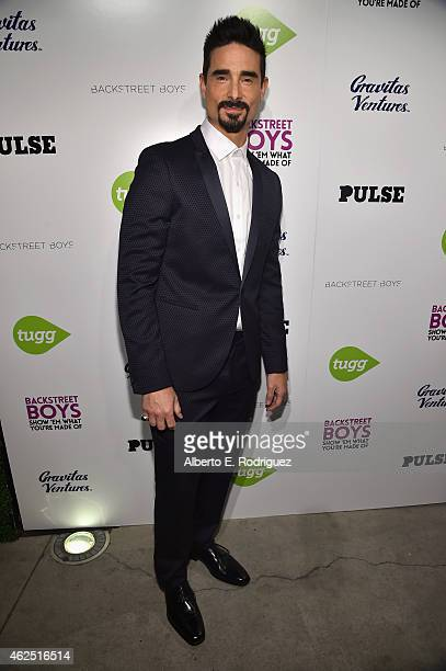 Singer Kevin Richardson attends the premiere of Gravitas Ventures' 'Backstreet Boys Show 'Em What You're Made Of' at on January 29 2015 in Hollywood...