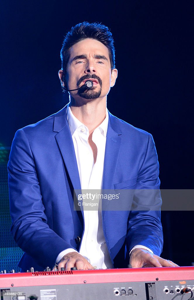 Singer Kevin Richardson of the Backstreet Boys performs during the 'In a World Like This' summer tour at Shoreline Amphitheatre on May 25, 2014 in Mountain View, California.