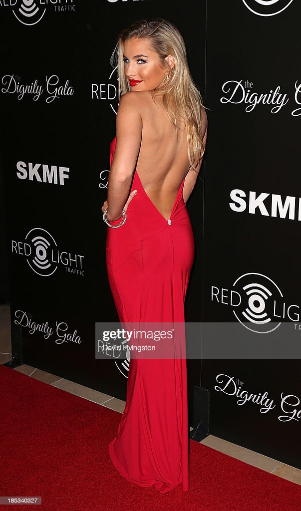 Singer Keyara attends the launch of the Redlight Traffic app at the Dignity Gala at The Beverly Hilton Hotel on October 18, 2013 in Beverly Hills, California.