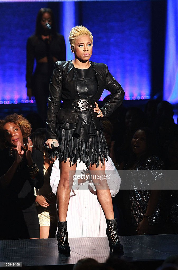Singer Keyshia Cole performs at the Soul Train Awards 2012 at PH Live at Planet Hollywood Resort and Casino on November 8, 2012 in Las Vegas, Nevada.