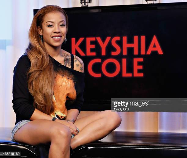 Singer Keyshia Cole visits 'You A' at Music Choice on August 5 2014 in New York City